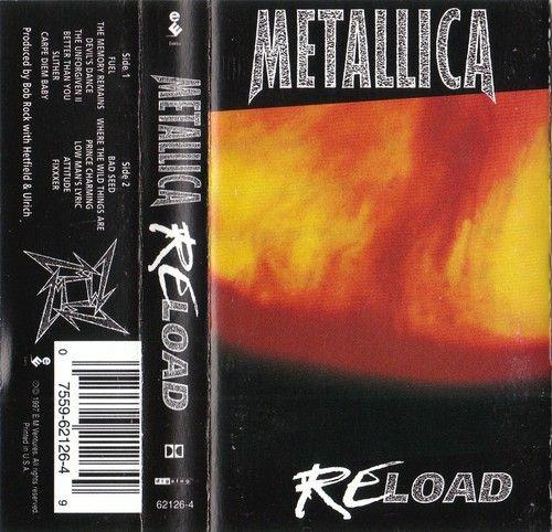 Cassette Tape Art Insert J Card Only Metallica Reload Elektra Records 62126 4 075596212649 Ebay Cassette Tape Art Bob Rock Tape Art