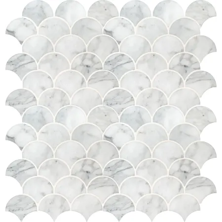 Msi smotcalscalop10mm Marble mosaic tiles, Marble