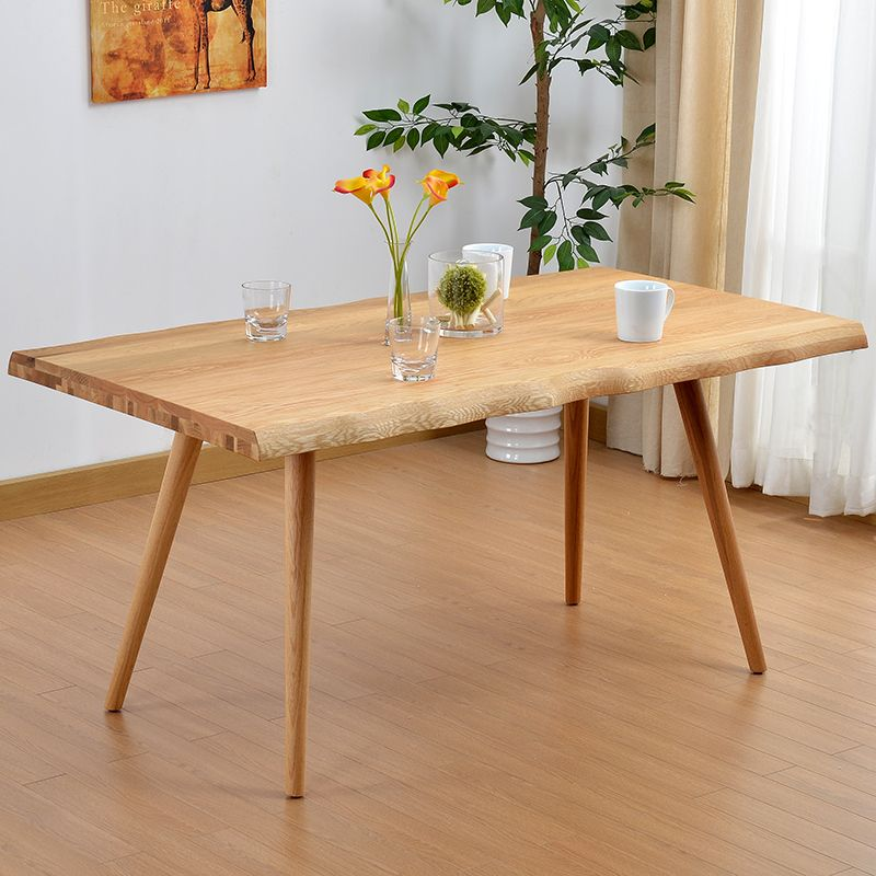 Wild oak dt522 white oak wood dining table modern for Quality wood dining tables