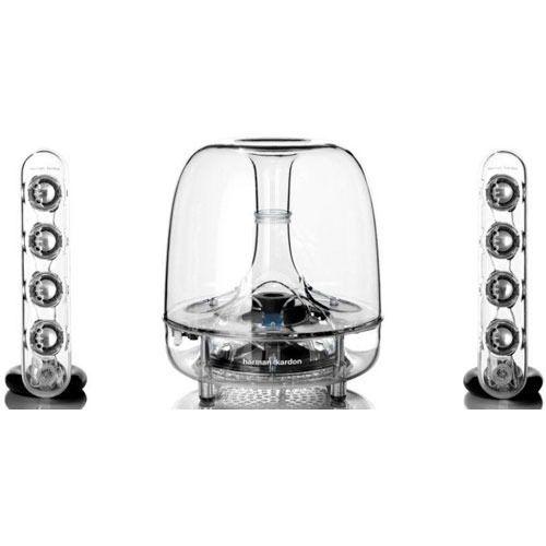 Stunning three-piece wireless speaker system designed to
