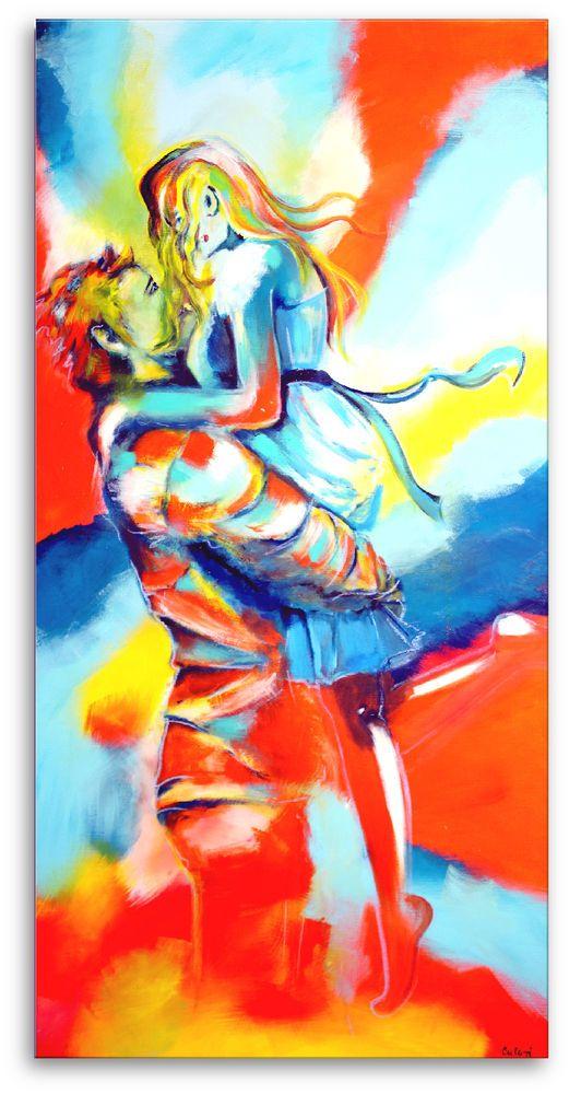 Atelier Culari Art Unikat Original Gemälde 140 x 70 Acrylfarbe 1353