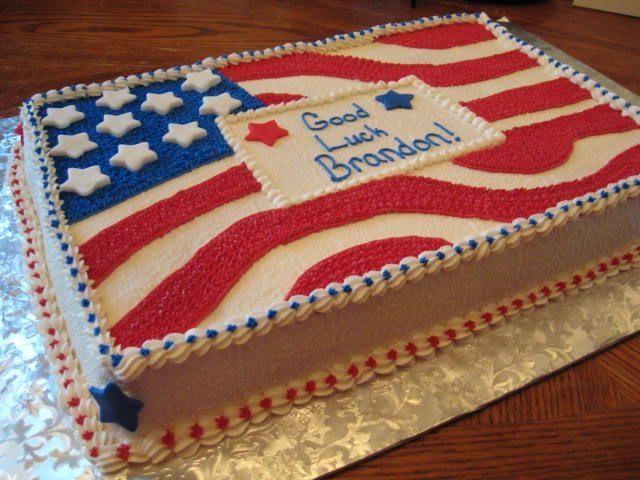 American Flag Cake Patriotic Cake