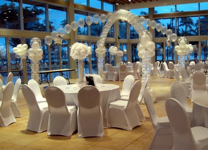 Dance Floor Balloon Decor Using Clear Balloons Lighted Pearl