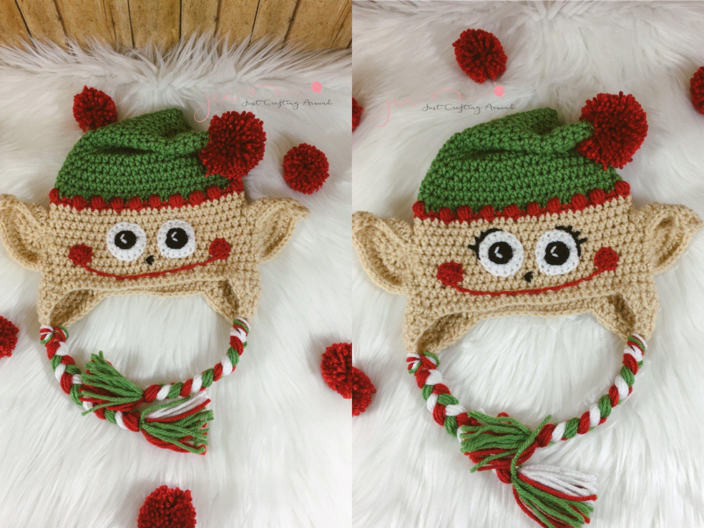 Free crochet elf hat pattern   Hats   Pinterest   Gorros y Bebe