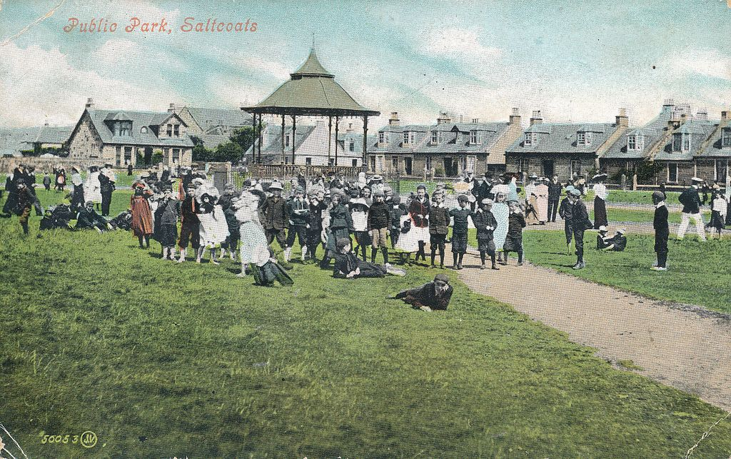 Melbourne Park Saltcoats Ayrshire. Turn of the century