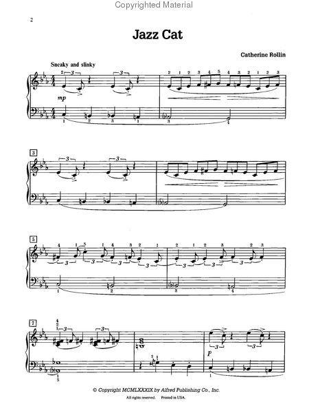 Jazz Cat Jazz Cat Music Print Jazz