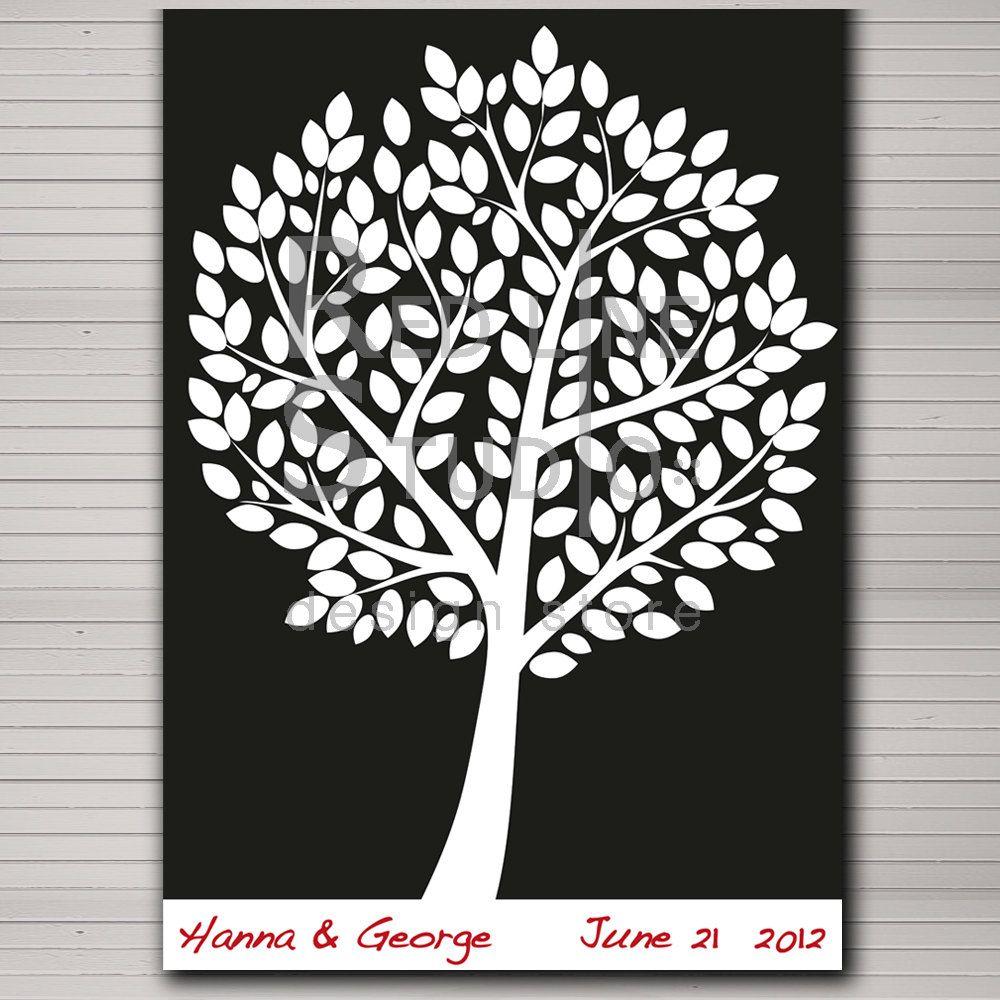 DIY Wedding Guest Book Template | DIY printable wedding alternative ...