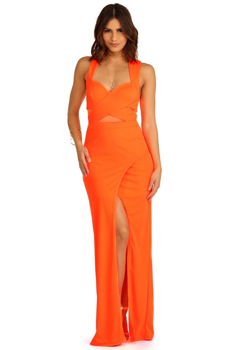 FINA SALE- Aurelia- Neon Orange Formal Dress | Orange formal dresses ...