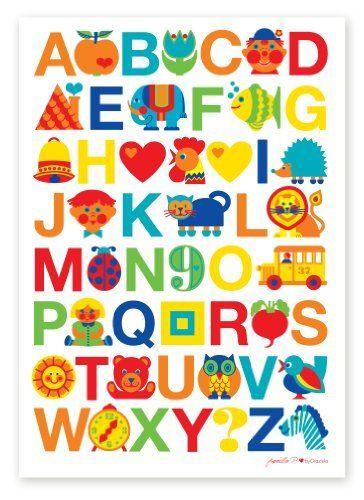 byGraziela Kinderzimmer Poster: ABC Alphabet Poster 50x70cm, http ...