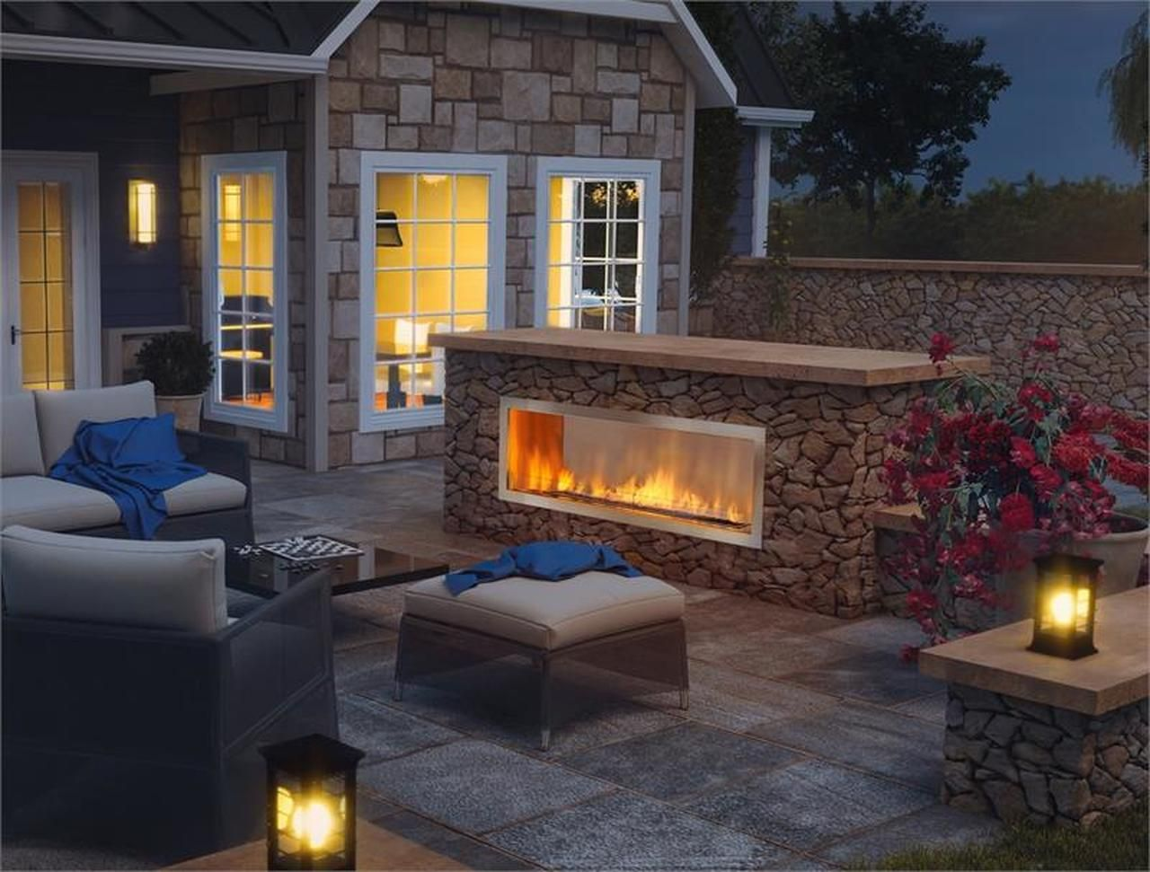 60 Outdoor Linear Gas Fireplace Outdoor Gas Fireplace Backyard Fireplace Outdoor Fireplace Designs