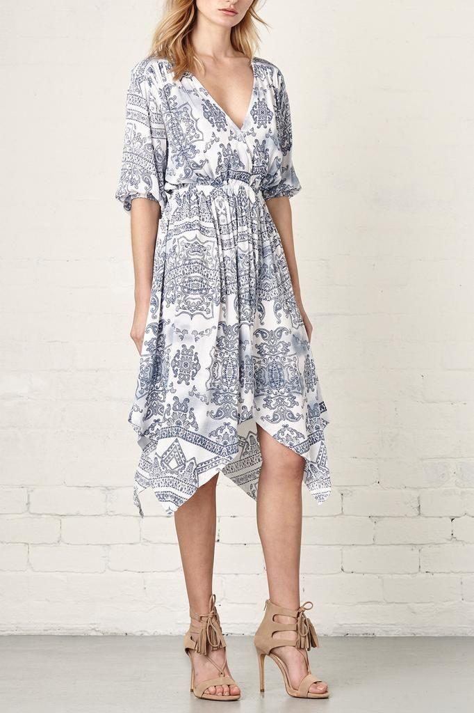 529ddf99747 Steele Silken Dress Belize Print
