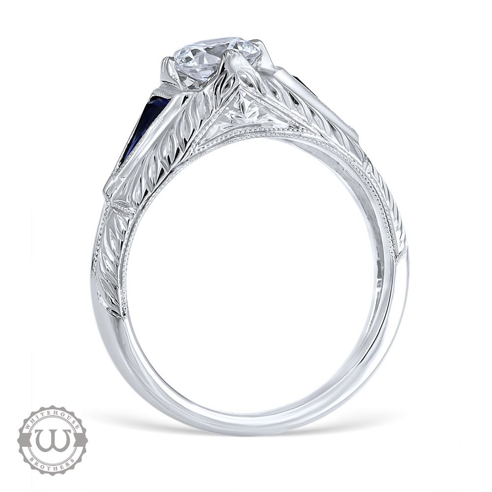 aju solitaire diamond victorian ring engagement backward rings glance university a french style