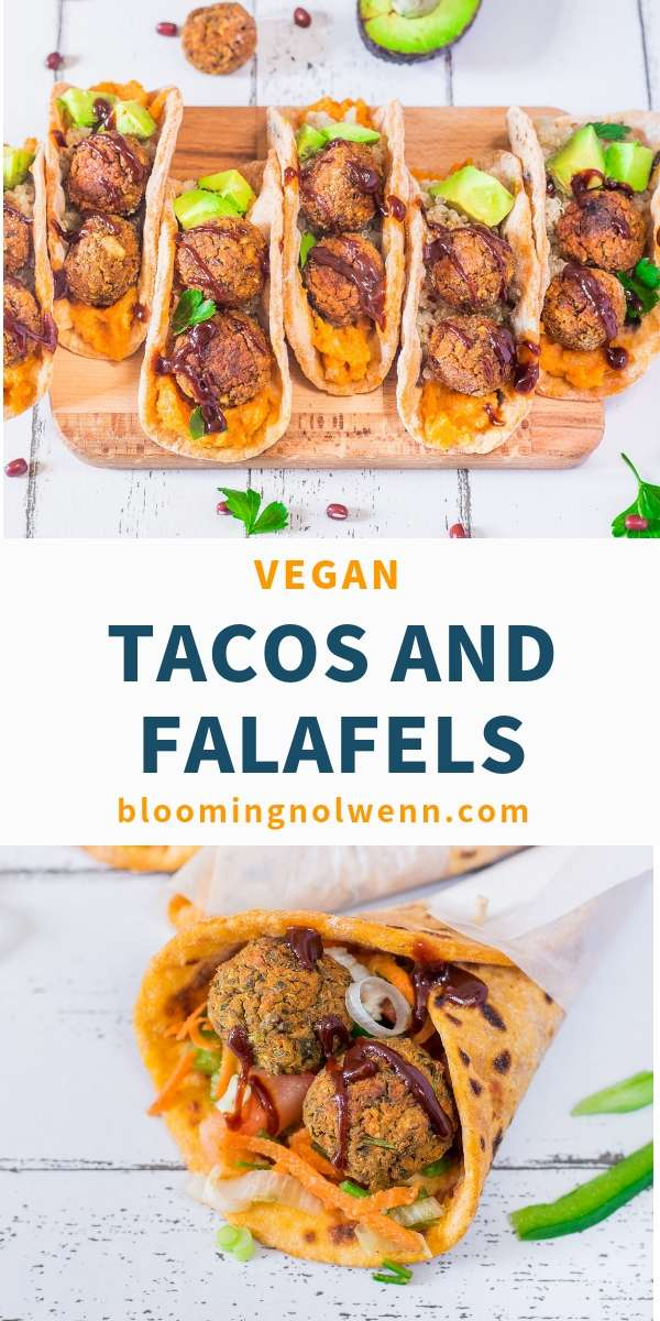 Taco Pockets with Falafels Easy Vegan Tacos with Falafels are healthy, oil-free and delicious! Baked falafels are easy to make, protein-rich and delicious. Perfect for lunch or dinner!Easy Vegan Tacos with Falafels are healthy, oil-free and delicious! Baked falafels are easy to make, protein-rich and delicious. Perfect for lunch or dinner!