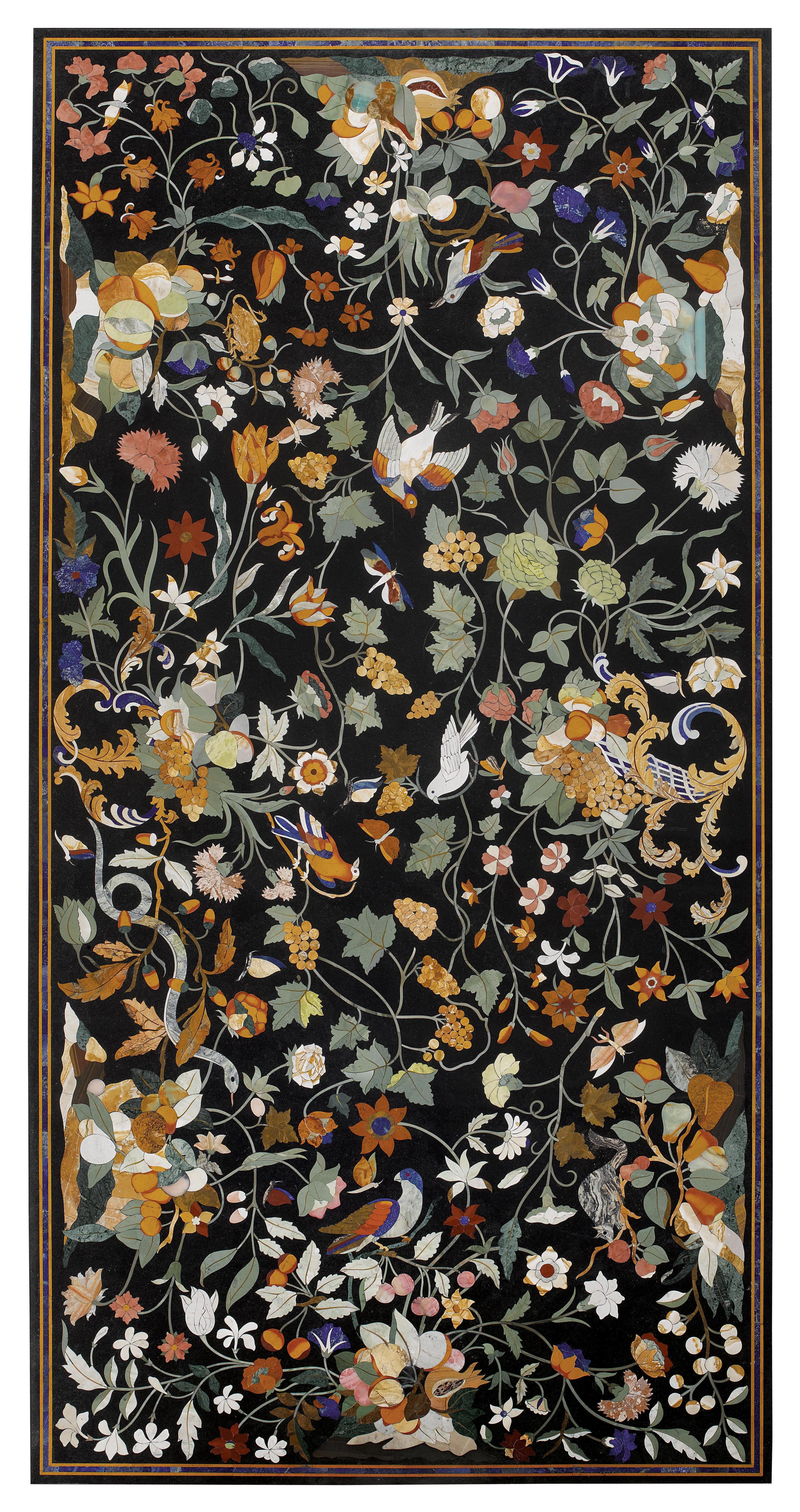 Pietra Dura Plate Aux Oiseaux Renaissance Style Florence Or  # Muebles Padua Salamanca