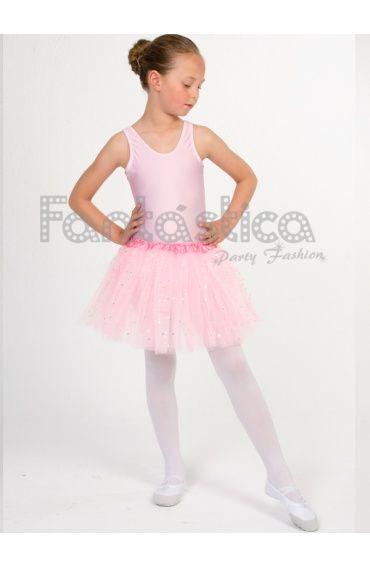 253090b1 Tutú para Ballet y Danza - Falda de Tul para Niña y Mujer Color Rosa con