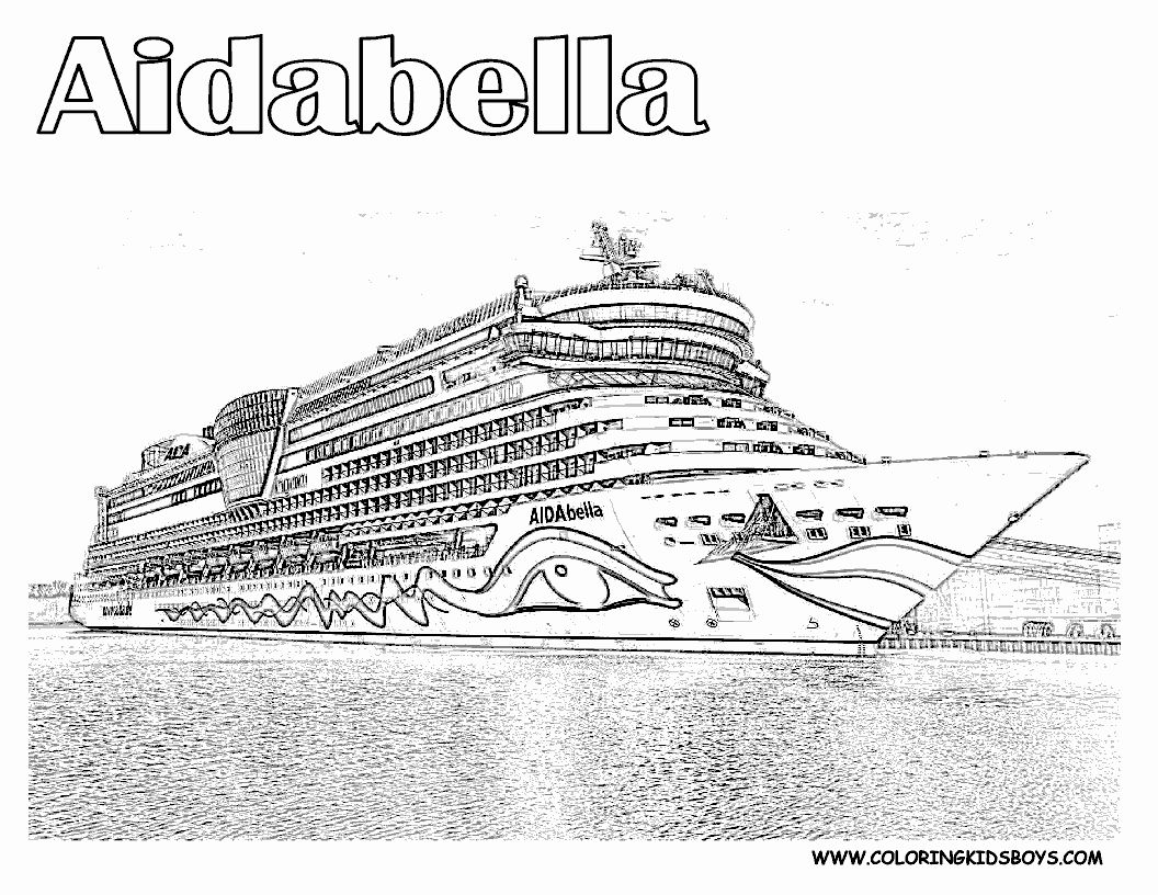 Cruise Ship Coloring Page Inspirational Coloring Cruise Ships Aidabella Cruise Liner I M Taking My Crayons Oh Yeah Schip Zeilboot