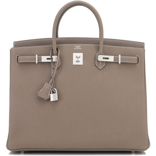 ... new zealand pre owned hermes etoupe 40cm togo birkin bag taupe  palladium hardware 75605 ils liked c4544caa431b4