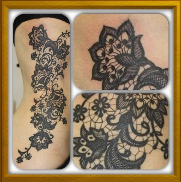 i love lace and would love a lace tattoo like this one tattoos pinterest schminktipps. Black Bedroom Furniture Sets. Home Design Ideas