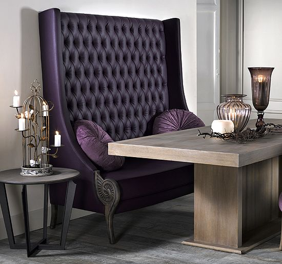 Upholstered Dining Bench Seat With Back