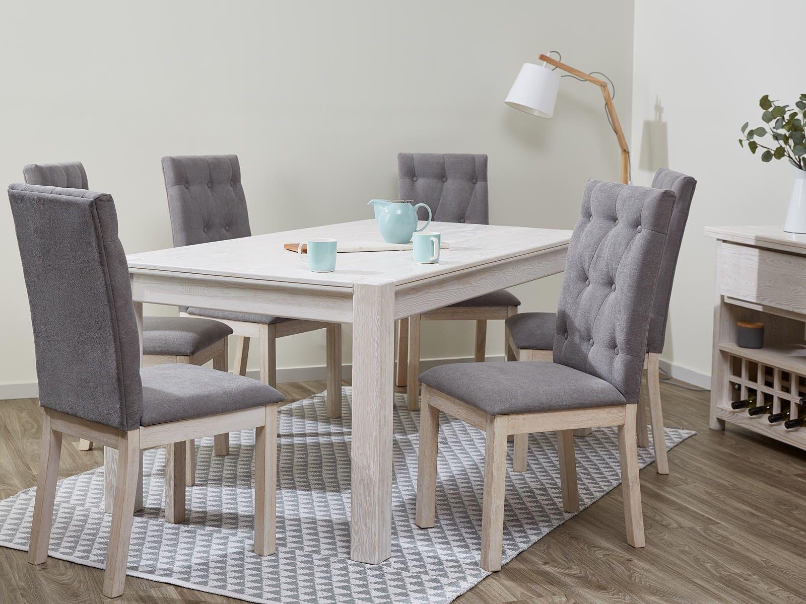 Dining Tables Timber Whitewash B2c Furniture