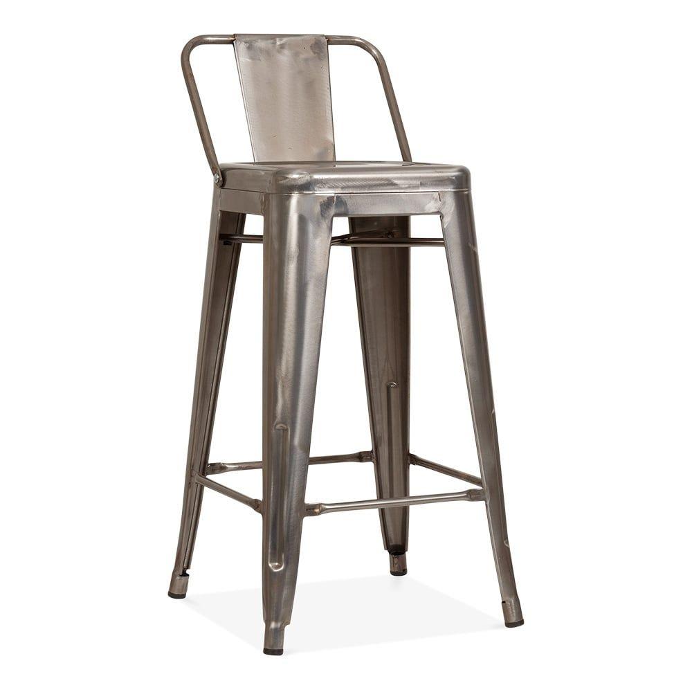 Tolix Style Metal Bar Stool with Low Back Rest Gunmetal 65cm | Cult UK repro copy  sc 1 st  Pinterest & Xavier Pauchard Tolix Style Metal Bar Stool with Low Back Rest ... islam-shia.org