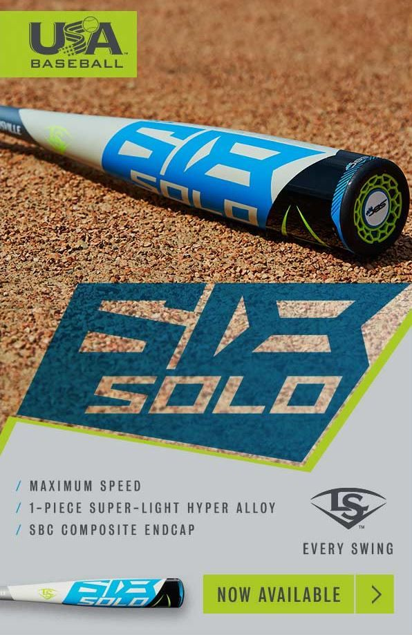 2018 Louisville Slugger Solo 618 -11 USA Baseball Bat: WTLUBS618B11