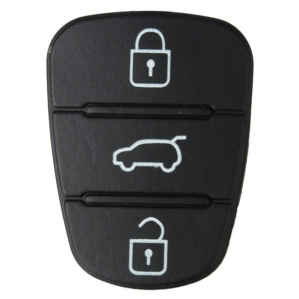 Us 1 79 3 Button Remote Key Fob Case Shell Rubber Pad For Hyundai