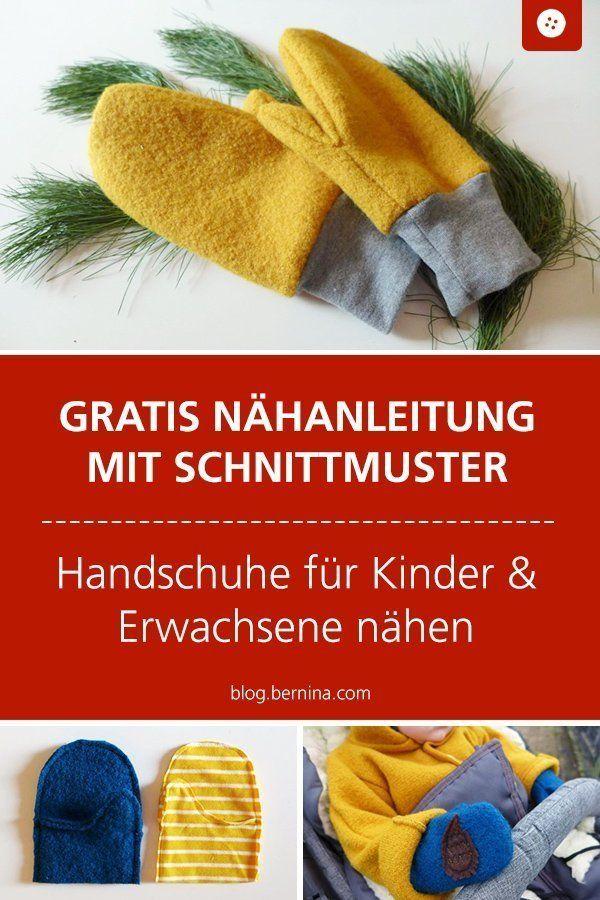 Handschuhe für Groß und Klein nähen – mit Link zum Schnittmuster – Nähen