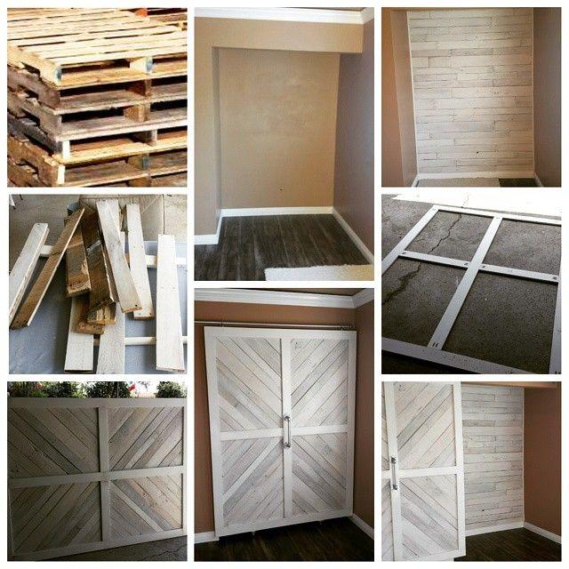 DIY Sliding barn door made from pallets. #slidingbarndoor ...