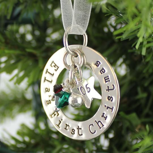 First Christmas Personalized Sterling Silver Ornament by ...