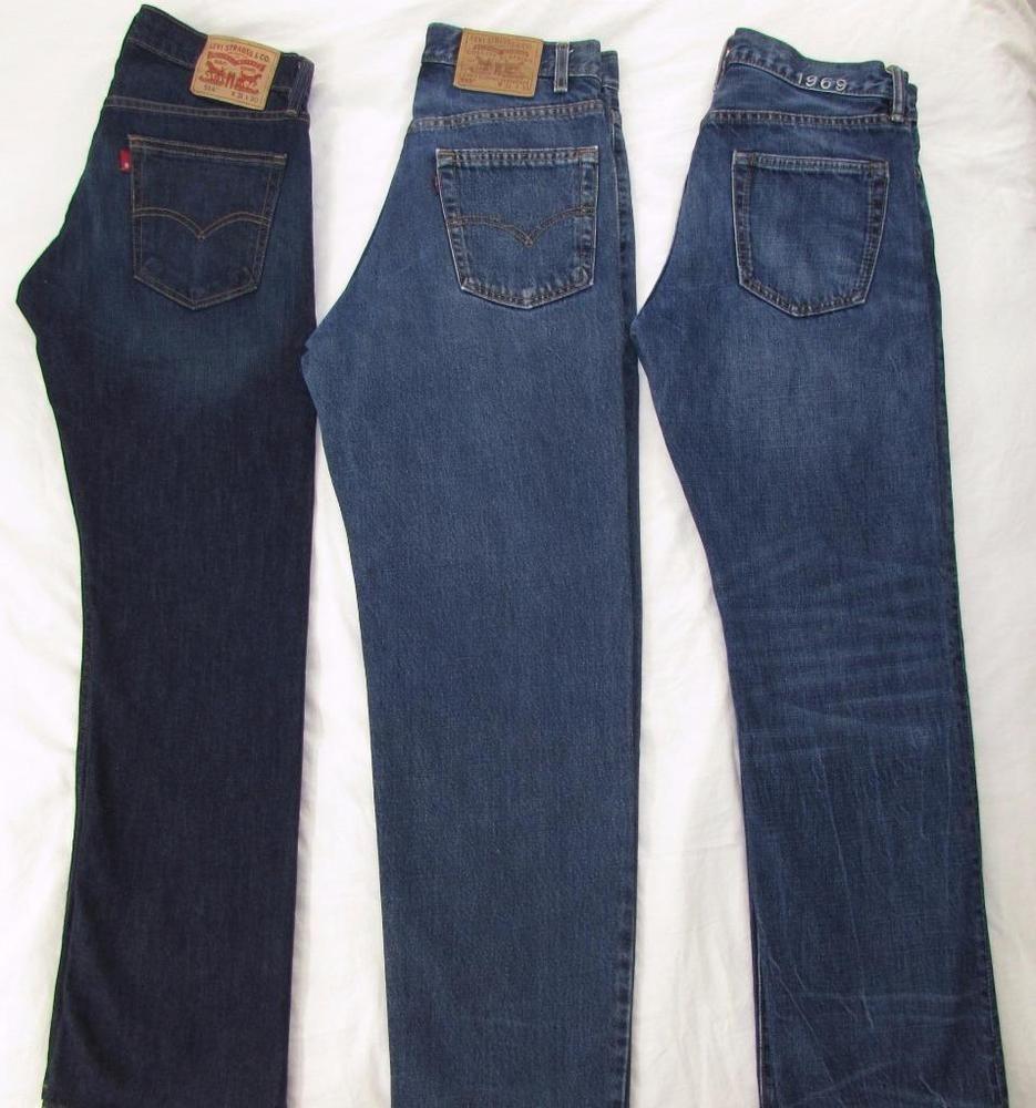 83ccccb0a35 Lot Men 3 Pair Jeans Levi's 514 Levi's 550 Gap 1969 Straight Leg sz 31 X 30  #2LevisGap1969 #StraightLeg