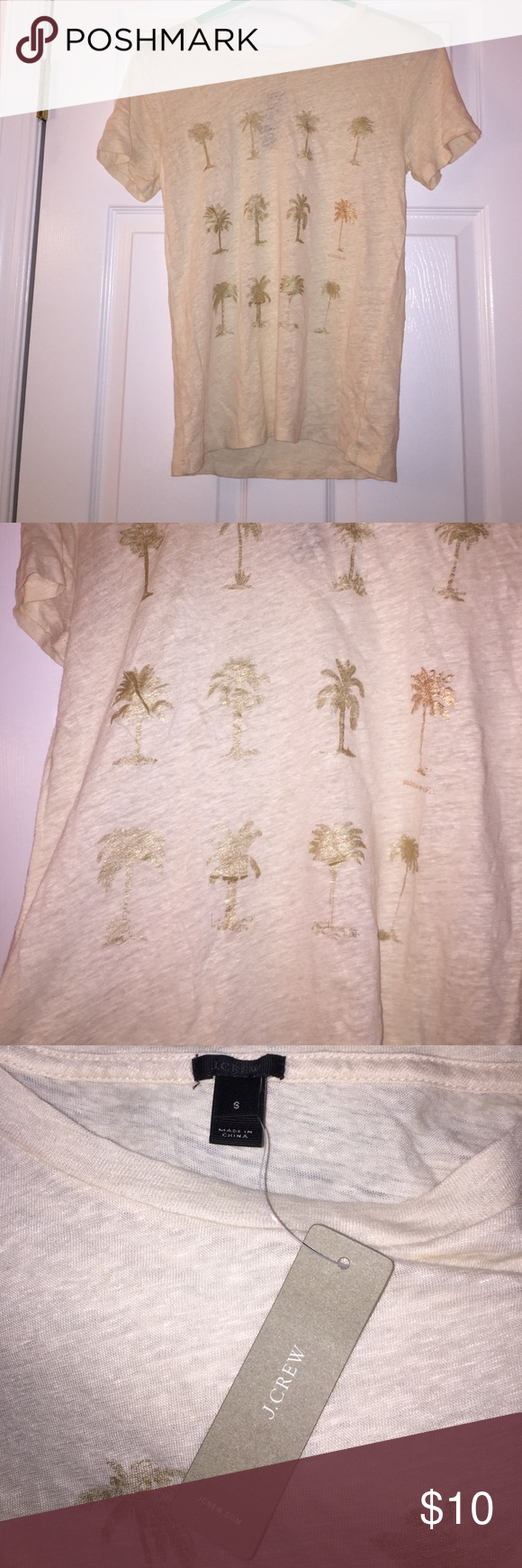 J.crew palm tree tee size small Size small - true to size - never worn with tags J. Crew Tops