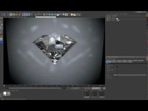 Creating Diamond in Cinema 4D tutorial - YouTube | Tutorials