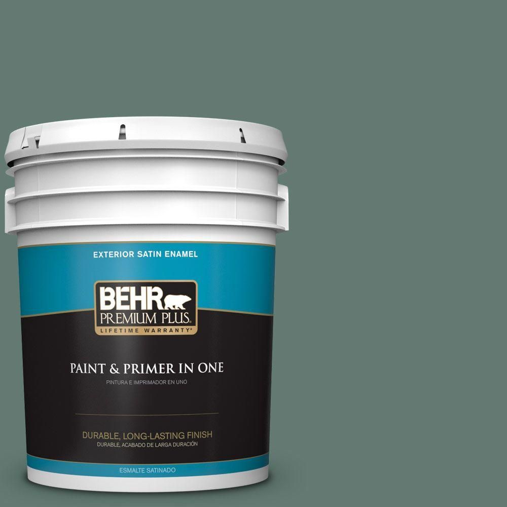 BEHR Premium Plus 5-gal. #S430-6 Forest Edge Satin Enamel Exterior Paint