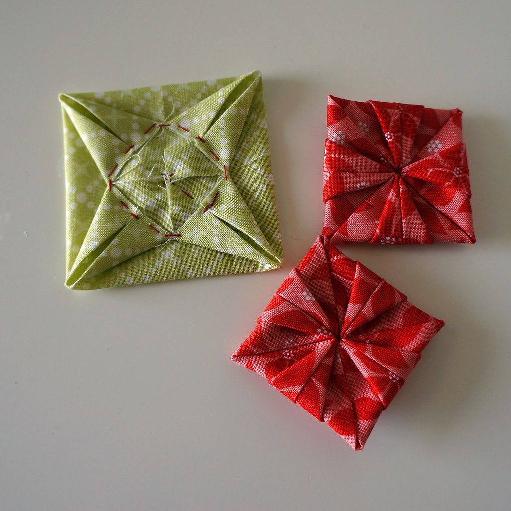 Tutorial Pics Fabric Origami Fabric Christmas Ornaments Ornament Tutorial