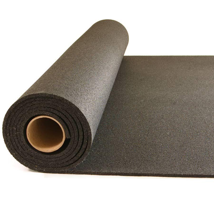 Plyometric Rubber Roll 8 mm 4x10 ft Black Home gym