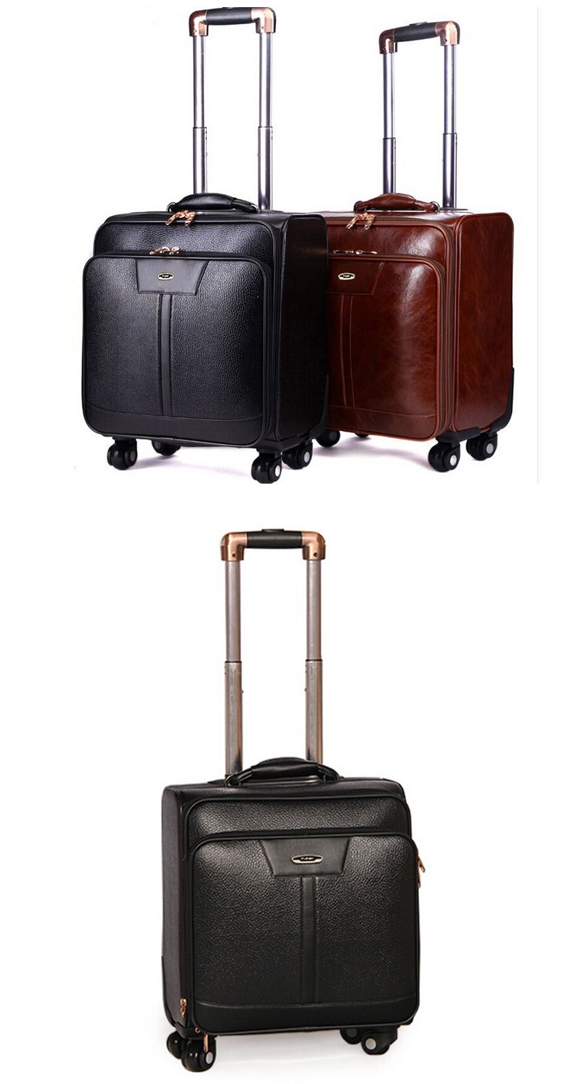 723957d88495 black color PU&polyester luggage trolley for airport trolley luggage ...