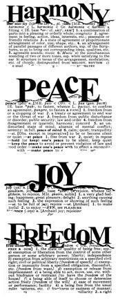 Harmony Peace Joy Freedom
