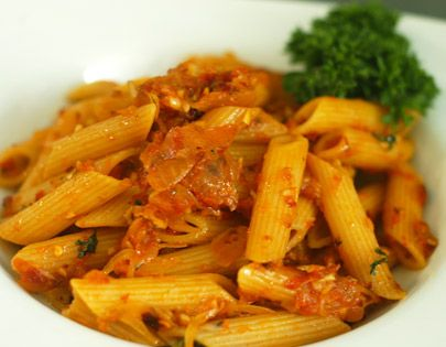 Penne arrabiata food pinterest penne basic italian and penne arrabiata recipe spicy pasta sauce made with fresh tomato forumfinder Choice Image