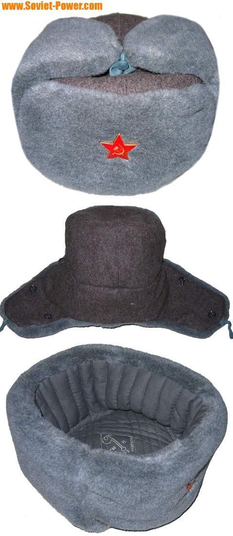 aa4f8ff928f Soviet soldier USHANKA warm winter hat. Soviet soldier USHANKA warm winter hat  Military Beret