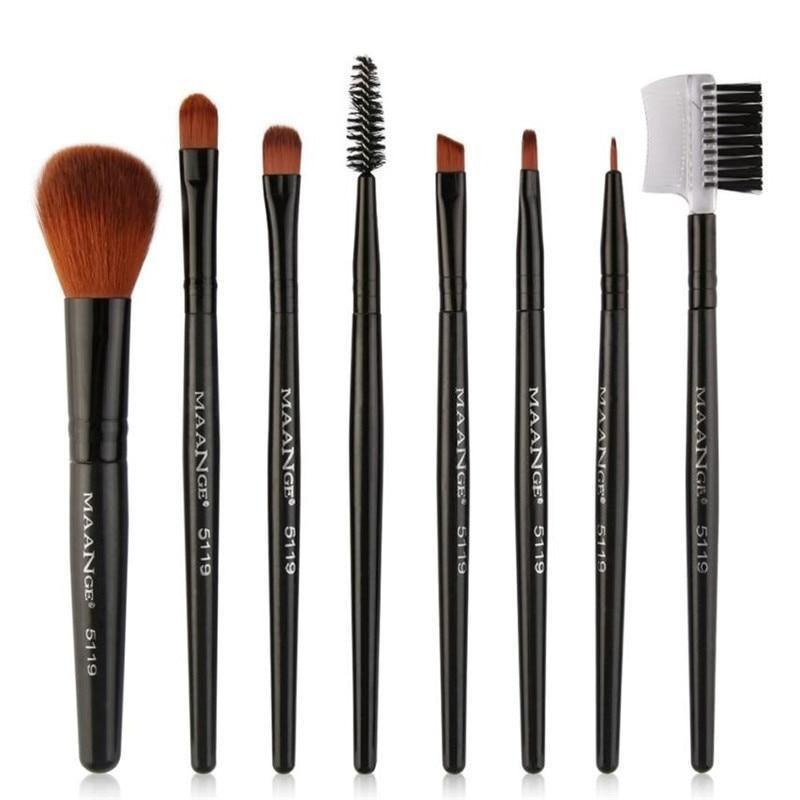 Photo of 8pcs Cosmetic Makeup Brushes Blusher Eye Shadow Makeup Brush Set Kit Tools Foundation Brush For Face Make Up Beauty Essentials – B / United States