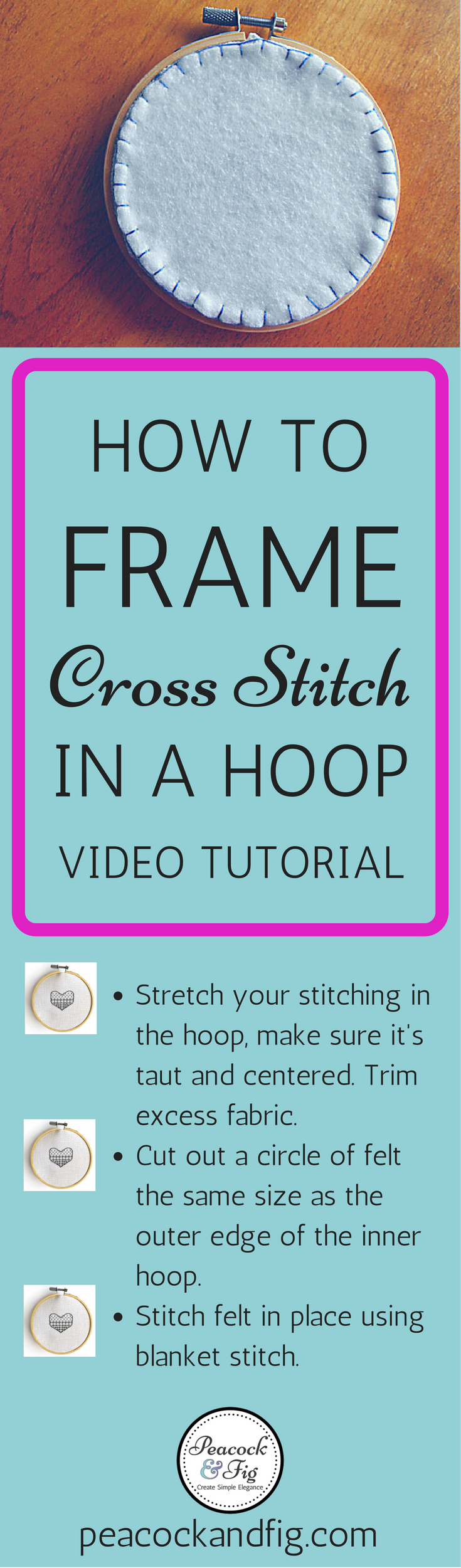 How to frame cross stitch in an embroidery hoop | Free cross stitch ...