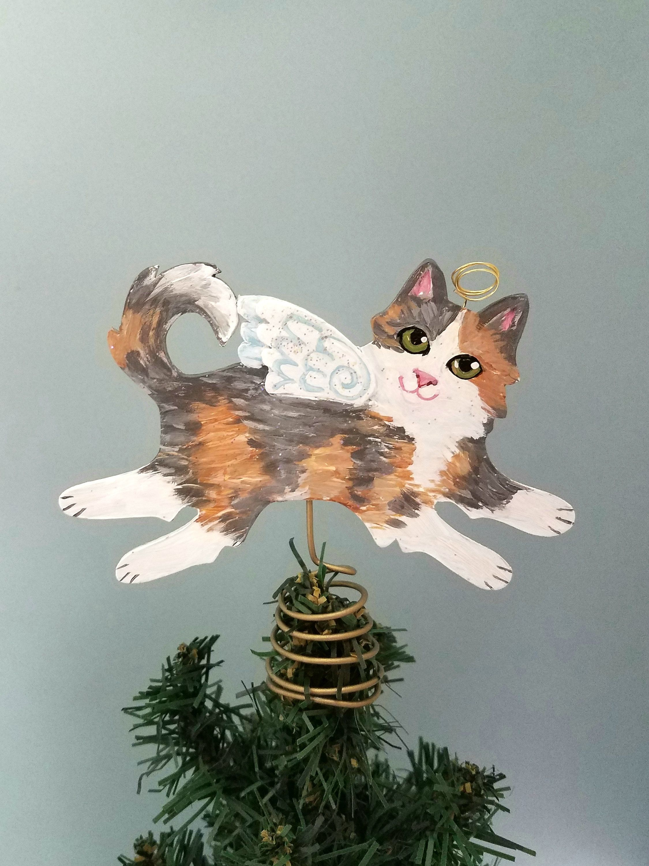 Calico Cat Tree Topper Cat Christmas Tree Topper Cat