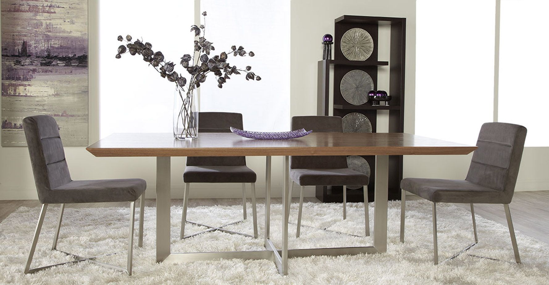 Gnocchi Adjustable Feet Dining Table | Zuri Furniture