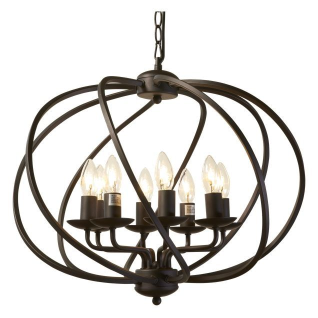 Orb 8 Light Chandelier 550x460 359 In Brown Antique Steel From Schots On Hoddle
