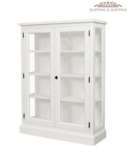 Glasschrank Kylie | Glasschrank, Landhausstil und Landhausmöbel