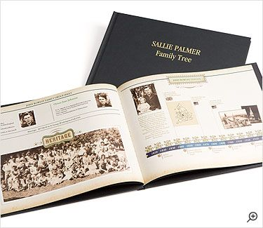 make a family history book with family tree photos and stories