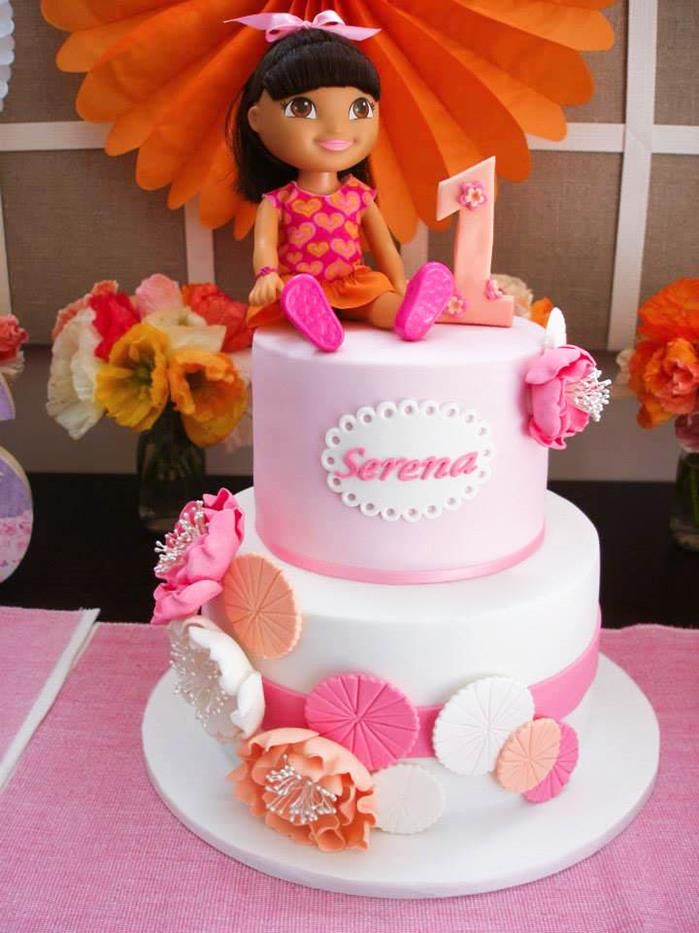 Dora The Explorer Modern Girl Birthday Party Girl birthday Kara