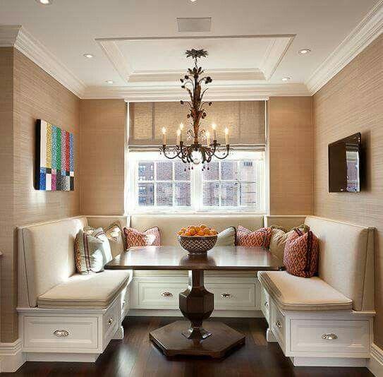 Una buena opcion para un comedor en un espacio reducido | decoración ...