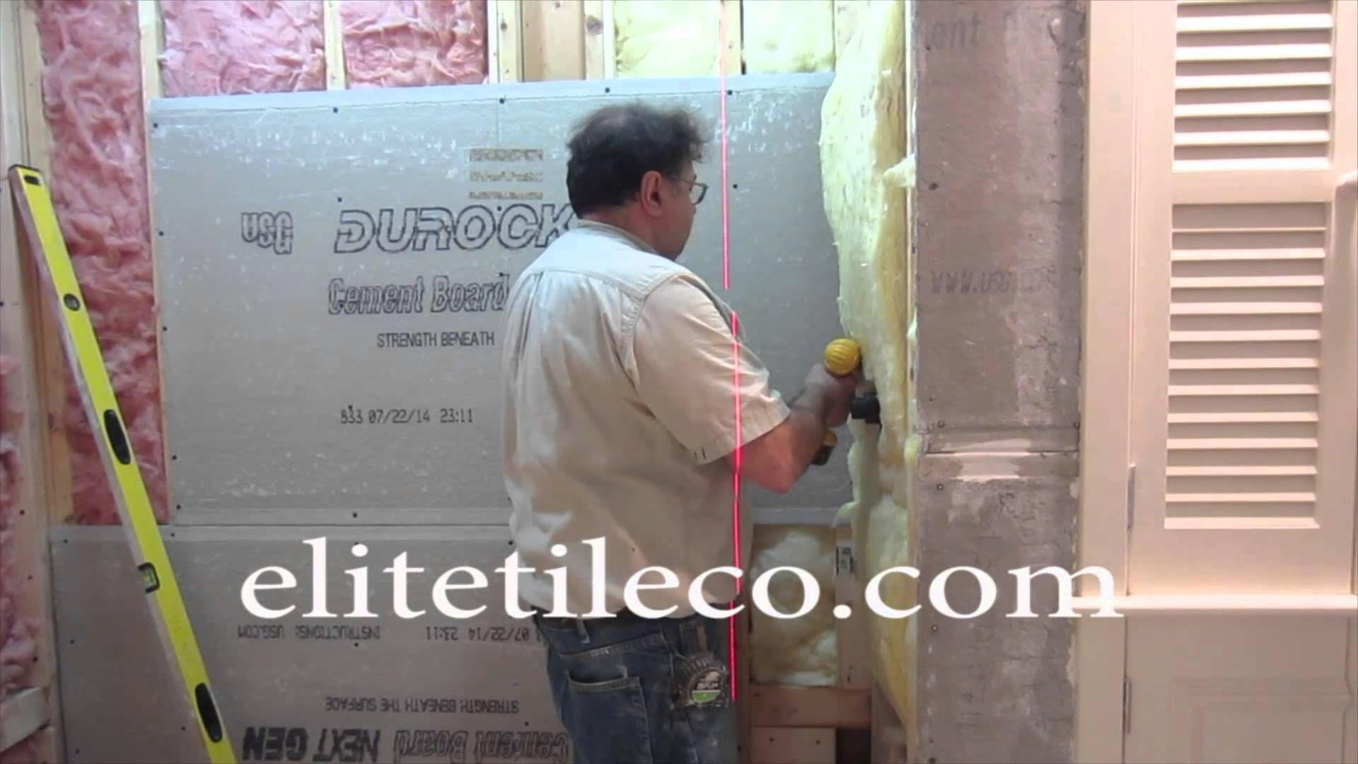 Complete tile shower install part 1 furring out studs
